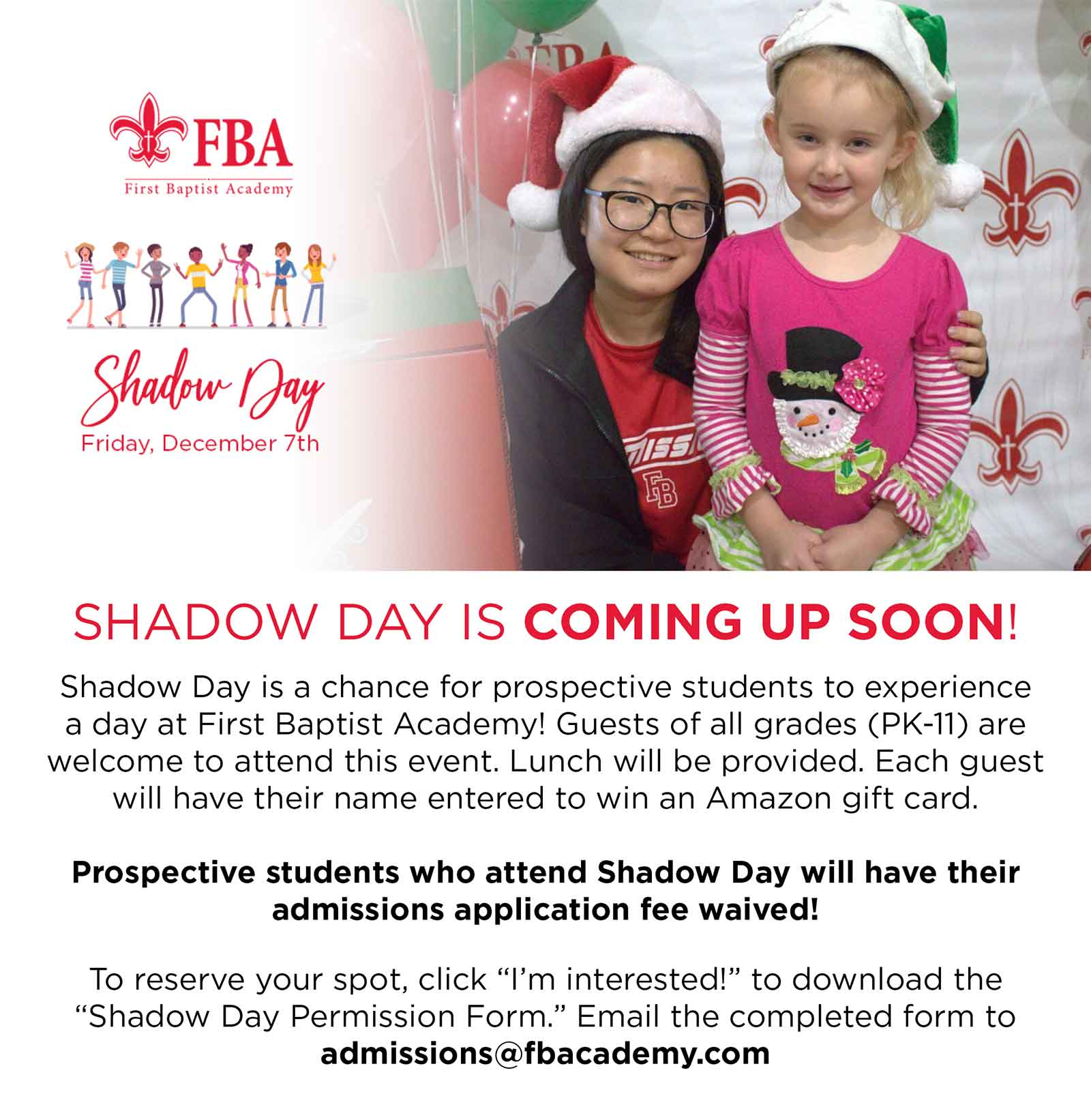 Shadow Day Signup