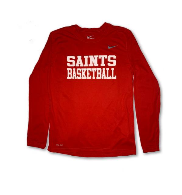 Saints Basketball Long Sleeve Shirt