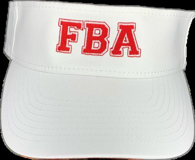 FBA White Visor