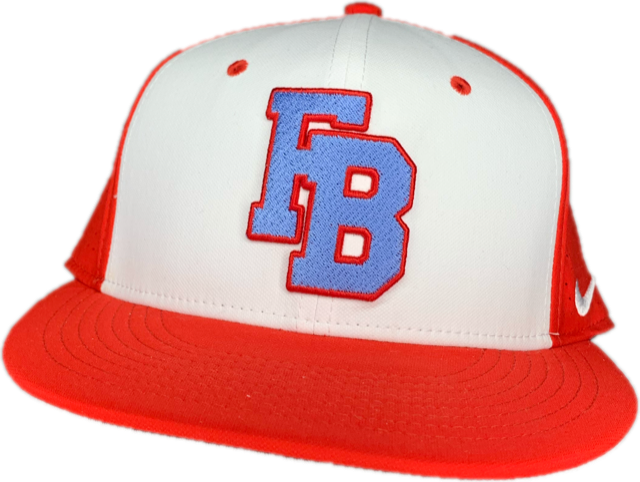 Red and White FB Baseball Hat